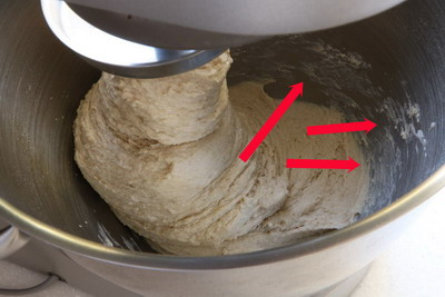 flour stuck in the bowl