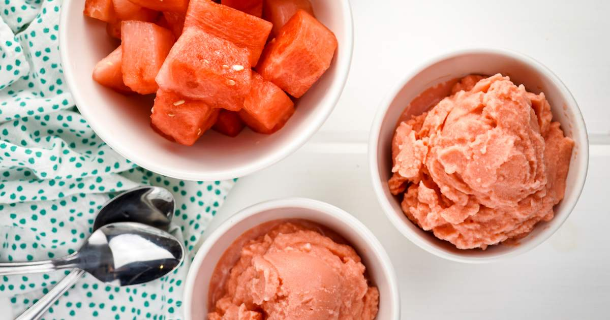 Two Ingredient Watermelon Ice Cream