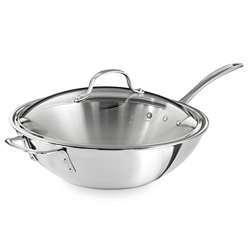 Calphalon Triply Stainless Steel 12-Inch Wok Stir ...