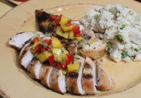 Lime Grilled Chicken with Mango Salsa Recipe