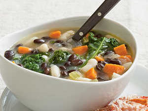 Two-Bean Soup with Kale Recipe