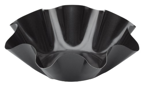 HIC Large Non-Stick Fluted Tortilla Shell Pans Tac...