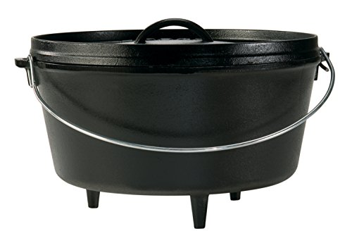 Lodge Seasoned Cast Iron Deep Camp Dutch Oven - 12...