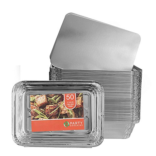 Party Bargains Aluminum Oblong Foil Pan Containers...
