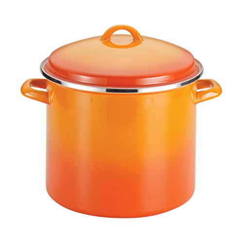Rachael Ray Enamel on Steel 12-Quart Covered Stock...