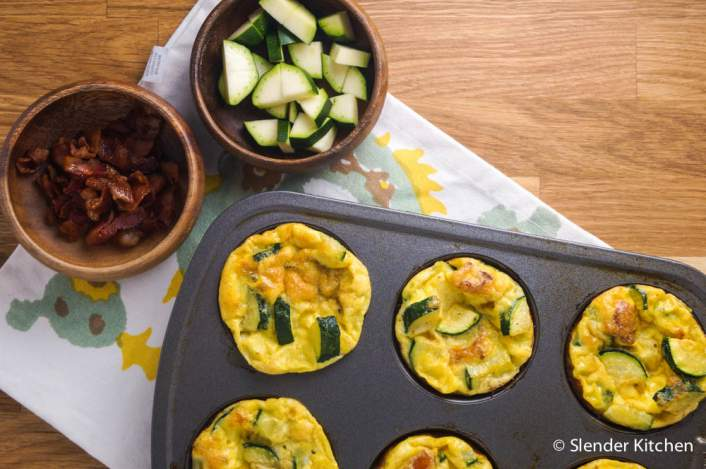 Zucchini Egg Muffins are part of a Weight Watchers meal plan for breakfast.