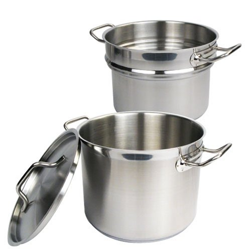 Winware Stainless 8 Quart Double Boiler  with Cove...