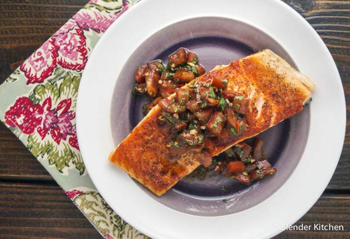 Italian Salmon with Tomato Basil Salsa for dinner on Friday in the weekly meal plan,