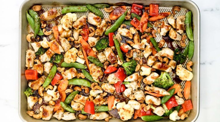 Sheet Pan Thai Cashew Chicken and Vegetables
