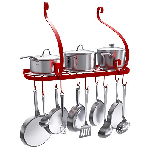 VDOMUS Wall Mount Pot Pan Rack, Kitchen Cookware S… – Picked ...